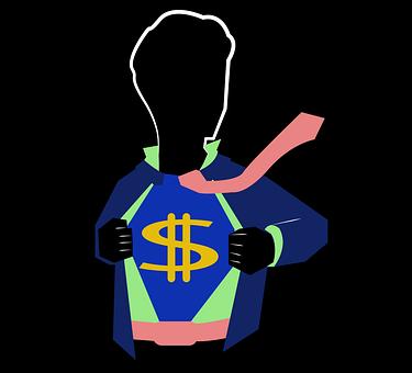 Man, Silhouette, Money, Tie, Pose, Entrepreneur