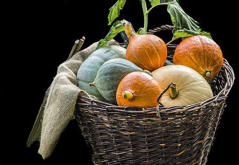 Pumpkins, Vegetables, Food, Harvest, Autumn, Halloween