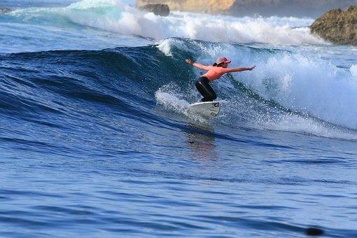 Surfing, Waves, Sea, Surfboard, Surfer, Leisure, Sport