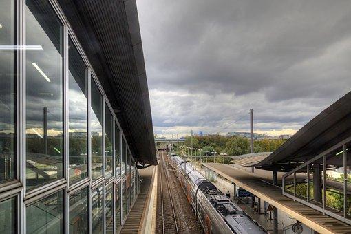 Train Station, Train, Railway, Railroad, Rail, Building