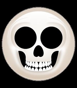 Skull, Skeleton, Emoji, Icon, Skull Icon, Skeleton Icon