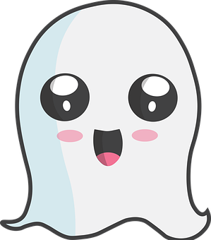 Halloween, Ghost, Cute, Kawaii, Spirit