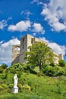 Castle, Fortress, Statue, Sculpture, Ruins, Citadel