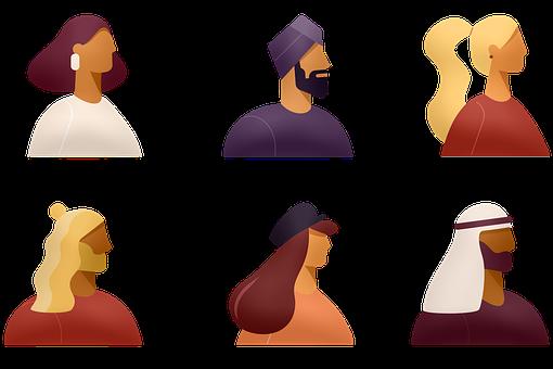 Avatars, Ethnic, Diverse