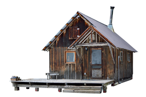 Cabin, Wooden, Cottage, Chalet, House, Icon, Cut Out