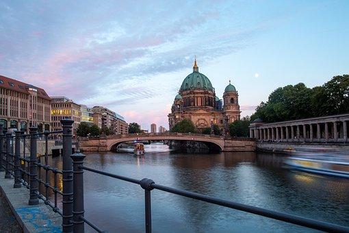 River, Bridge, City, Water, Architecture