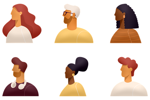 Avatars, Ethnic, Diverse, Various Hairstyles