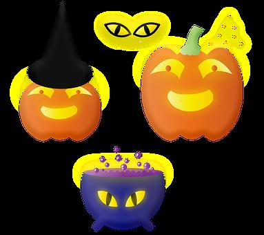 Halloween, Jack-O'-Lanterns, Pumpkins