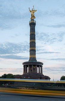 Statue, Monument, Tower, Sculpture, Berlin, Siegessäule
