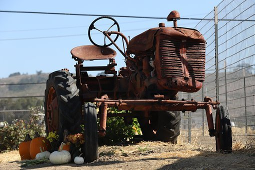 Tractor, Agriculture, Rusty, Vintage, Farm, Antique