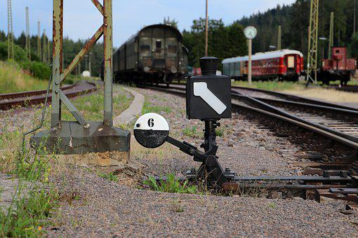 Arrow, Signal, Trains, Rails, Tracks, Forest Tracks