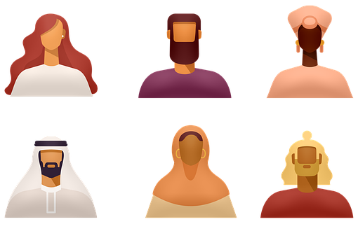 Avatars, Ethnic, Diverse, Various Headdress
