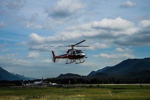 Helicopter, Alaska, Mendenhall Glacier, Mountains