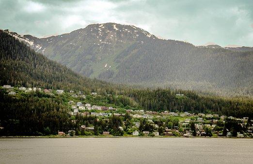 Alaska, Mendenhall Glacier, Mountain, Snow, Scenic
