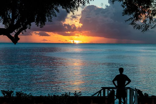 Sunset, Atlantic Ocean, Silhouette, Barbados