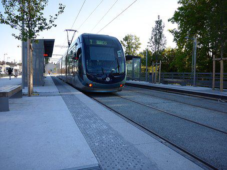 Tram, Wharf, Transport, Station, France, Bordeaux