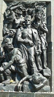 Warsaw, Jews, Ghetto Memorial, Monument, Bronze