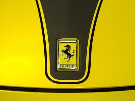 Ferrari, Auto, Car, Sport, Brand, Logo, Stamp, Sign