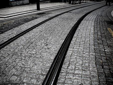 City, Porto, Rails, Tourist, Ground, Pavement, Road