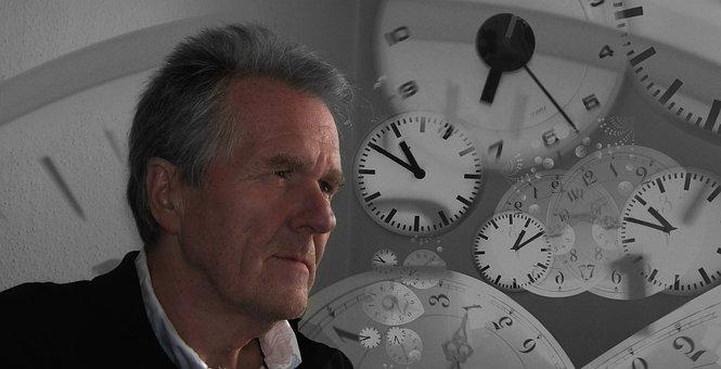 Man, View, Direction, Time, Face, Clock, Clock Face