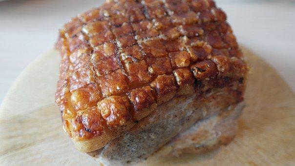 Pig, Crust Roast, Roast Pork, Rind, Fry, Meat, Crust
