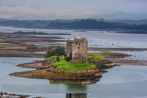 Creagan, Appin, Castle, Argyll, Hole, Sky, Dramatic