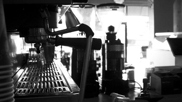 Espresso Machine, Black White, Espresso, Coffee