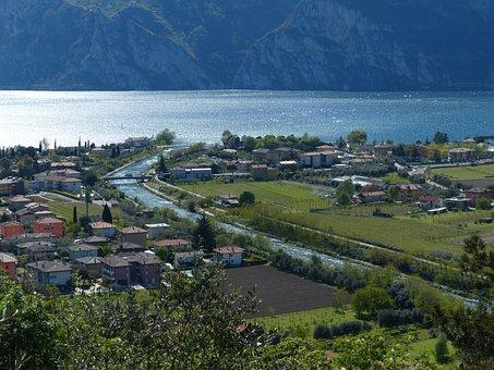 Sarca, Sarca Valley, Estuary, Torbole, Garda, River
