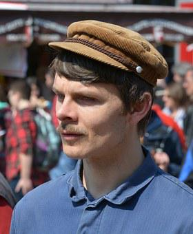Man, Face, Hamburg, 1 May, Rally, Barmbek