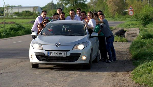The Gang, Friendship, Buddy, Car, Hitch-hiking, Funny