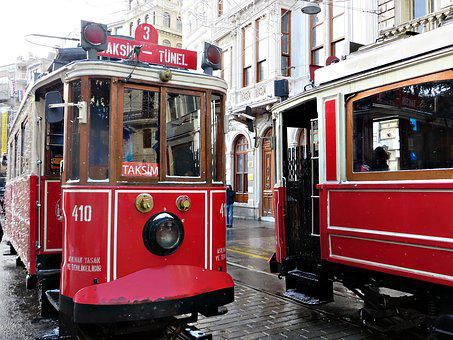 Istanbul, Tram, Transport, Istiklal, Funicular, Tramway