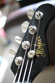 Guitar Head, Tuning, Bass, Bass Guitar, Gray Guitar