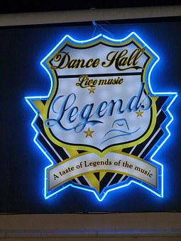 Neon, Sign, Dance Hall, Spain, Honky Tonk