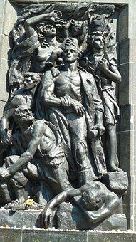Warsaw, Jews, Ghetto Memorial, Monument, Bronze