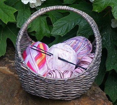 Variegated Yarn, Basket, Baby Yarn, Baby, Knitting