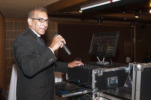 Dj, Disc Jockey, Man, Microphone, Mixing Desk, Mixer
