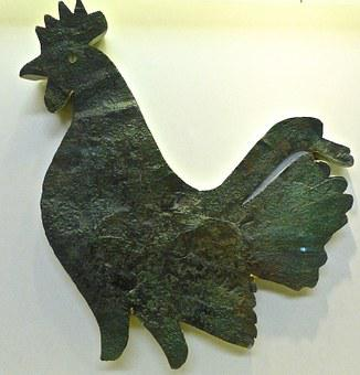 Cock, Bronze, Rooster, Antique, Historical, Old, Metal