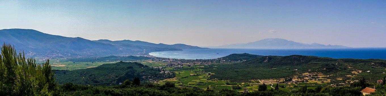 Panorama, Greece, Sea, Zakynthos, Mountains, Hill