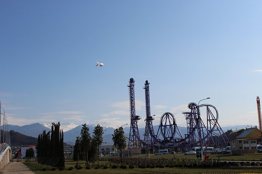 Roller Coaster, Mountains, Sochi, Olympic Park