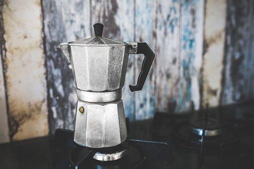 Coffee, Pot, Maker, Percolator, Italian, Octagon, Octa