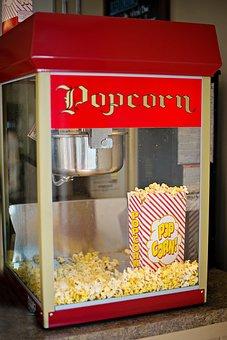 Popcorn Machine, Old-fashioned, Popcorn, Maker, Machine