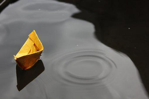 Paper, Boat, Origami, Float, Childhood, Toy, Kid, Water