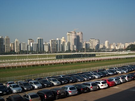 Jockey Club, Sao Paulo Skyline, Parking Lot, Rent A Car