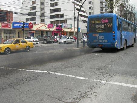 Exhaust Fumes, Pollution, Environment, Quito, Ecuador