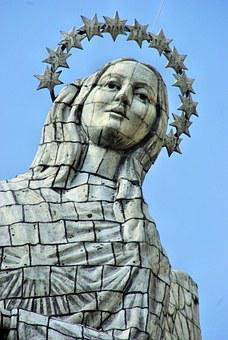 Ecuador, Quito, Winged Virgin