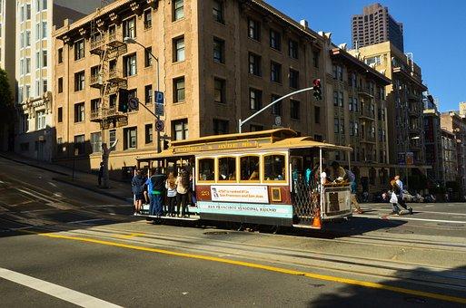Usa, America, San Francisco, California, Road