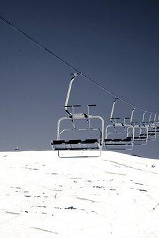 Ski Lift, Lift, Chairlift, Winter Sports, Skiing, Snow