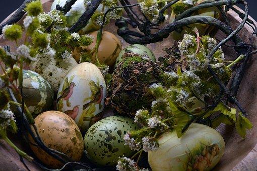 Easter Eggs, Easter Nest, Easter, Spring, Decoration