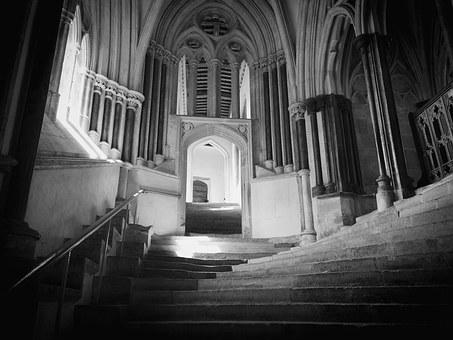 Wells Cathedral, Steps, Stairs, Sea Of Steps, Staircase