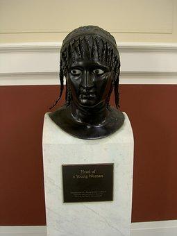 Statue, Museum, Young Woman, Getty Villa, Art
